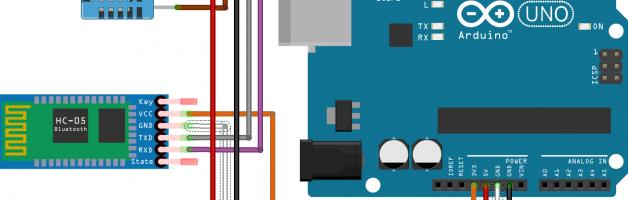 Arduino temperature and bluetooth wireless communication